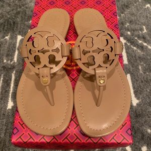 Tory Burch Miller Sandal - light makeup- size 7